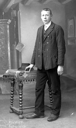 Jeho podobenka, zhotovená českokrumlovským ateliérem Seidel sdatem 18. ledna roku 1916