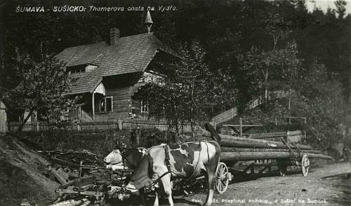 Turnerova chata na starých pohlednicích...