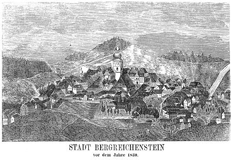 Frontispis a titulní list jeho knihy oKašperských Horách (1875)