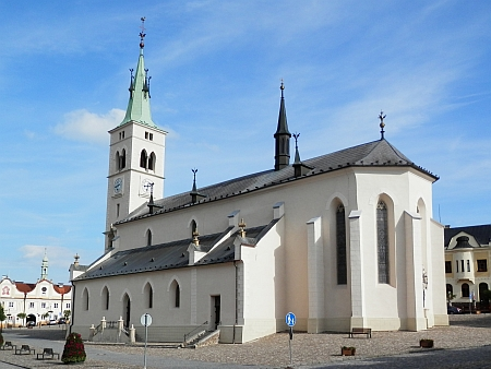 ... arciděkanský kostel sv. Markéty dnes (2014)