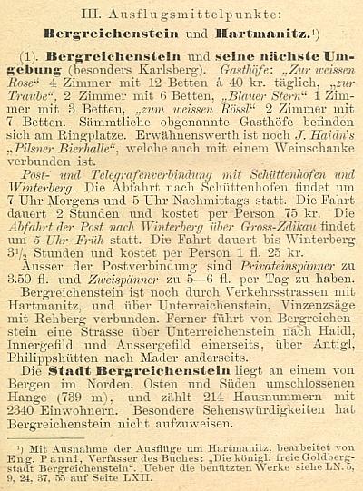 O Kašperských Horách a jejich okolí napsal také 35 stran textu do průvodce Šumavou, který v roce 1888 vydal Deutscher Böhmerwaldbund