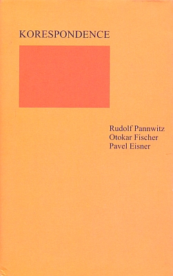Obálka vydání (2002, Památník národního písemnictví v Praze) jeho korespondence s Otokarem Březinou a Pavlem Eisnerem