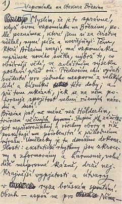 Titulní list (1936) českého překladu jeho textu o básníku Otokaru Březinovi a první strana tohoto přetlumočení, které pořídil Jakub Deml