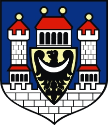 Znak jeho rodného města Crossen an der Oder