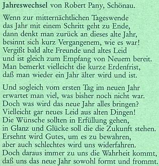 Jeho báseň na obálce krajanského měsíčníku