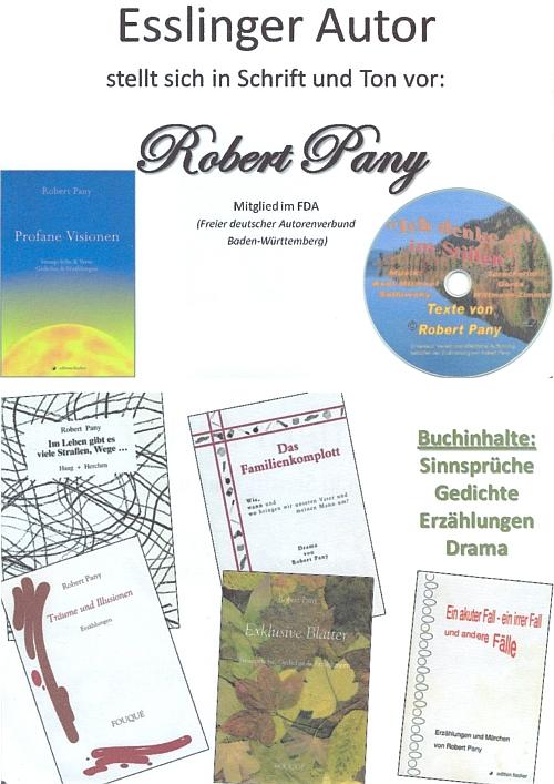 Obálky jeho knih a CD se zvukovým záznamem některých jeho textů