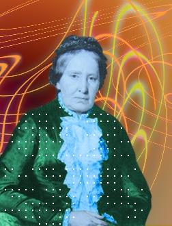 Fotomontáž s její fotografií ve stáří