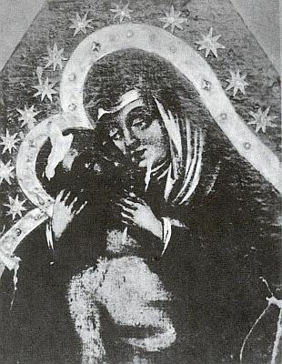 Milostnému obrazu z kostela ve Stříbře se přičítalo zázračné kanutí slzí z očí Bolestné Matky
