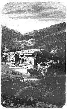 Dům v Železné Rudě (ilustrace Antona Lewého z knihy)