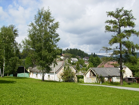 Rodná Horní Vltavice na snímku z roku 2012