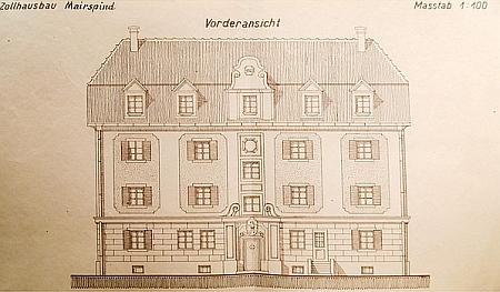 Celnice v Mairspindt na nákresu z roku 2019
