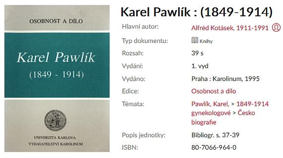 Katalogový záznam knihy o něm