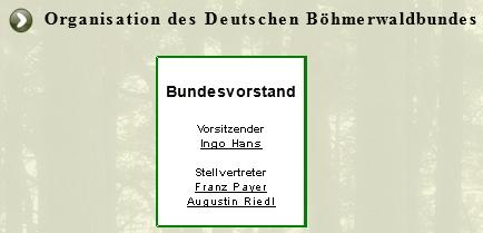 Vidíme ho tu v čele sdružení Deutscher Böhmerwaldbund jako jeho zastupujícího předsedu (předseda Ingo Hans je na stránkách Kohoutího kříže rovněř zastoupen)