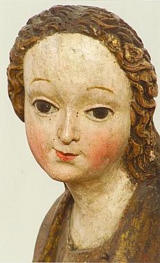 Z prachatického kostela sv. Jakuba Většího pochází tato socha neznámé světice, jejíž vznik je pokládán do doby kolem roku 1500 a která je dnes součástí sbírek Alšovy jihočeské galerie vHluboké nad Vltavou