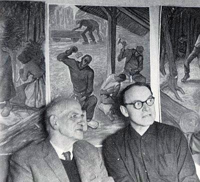 M. Peinkofer (vlevo) s Güntherem Fruthem, synem Josefa Frutha