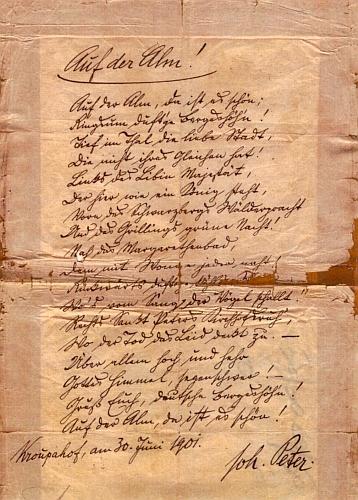 Rukopis jedné jeho básně