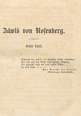 """Vazba, """"rožmberské"""" exlibris Svatopluka Samka a titulní listy (1860) prvního a druhého dílu jeho románu     oZávišovi z Falkenštejna, který vydal v Praze pod pseudonymem Elfried von Taura"""