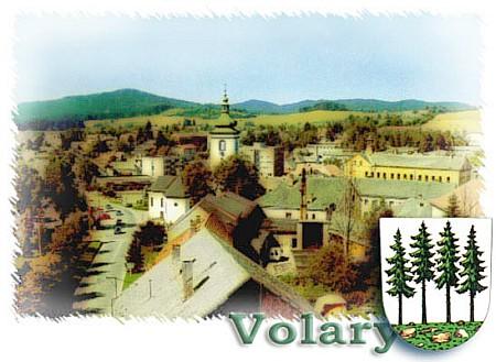 Volary na novější pohlednici