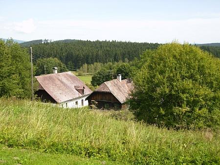 Dnešní (2012) snímky kdysi sklářské osady Sonnenwald