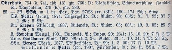 Soupis učitelstva německých obecných a měšťanských škol v Čechách z roku 1928 ho tu zachycuje ve Zbytinách i s dcerou Idou