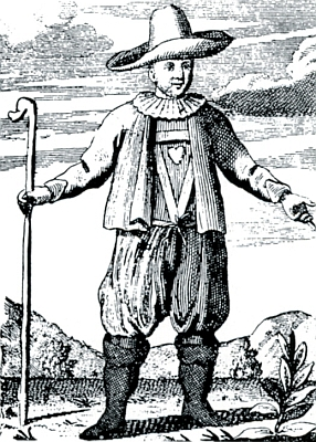"Jako ""agierender Bauer von Krummau"" najiném vyobrazení"