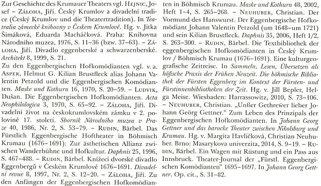 Seznam literatury k dějinám českokrumlovského divadla a jeho herců