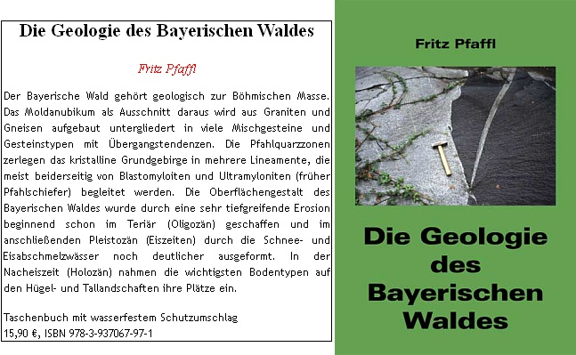 Jeho zásadní dílo vyšlo v roce 2008 nákladem Ohetaler Verlag a anotace ke knize připomíná     hned první větou, že Bavorský les náleží geologicky k Českému masívu
