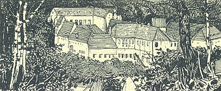 Jedna z ilustrací Karla Fahringera zachycuje Zlatou Korunu se zřejmou obeznalostí místa