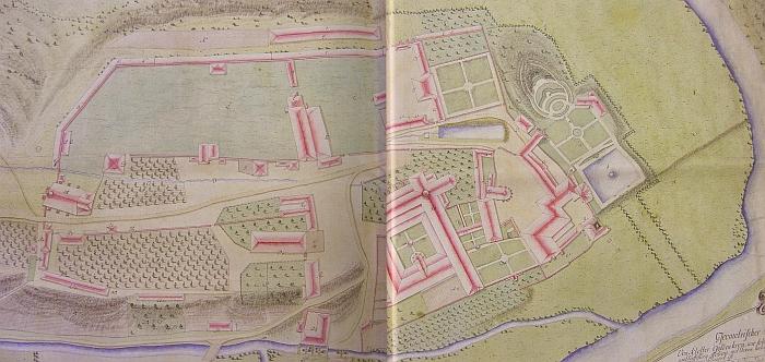 ... a na geometrickém plánu lesníka F.J. Matze (1755-1841) z roku 1787 (viz i Franz Josef Matz)