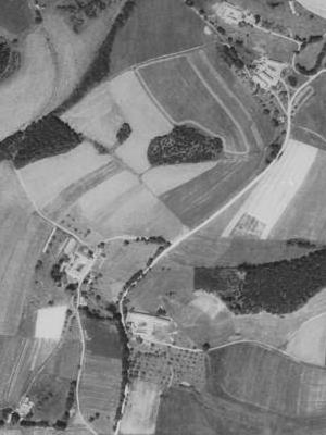 Svinihlavy a Šimákův Dvůr na leteckých snímcích z roku 1952 a 2011