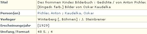 Tento titul z roku 1929 je posledním v jeho bibliografii a byl vydán ve Vimperku u Stenbrenera