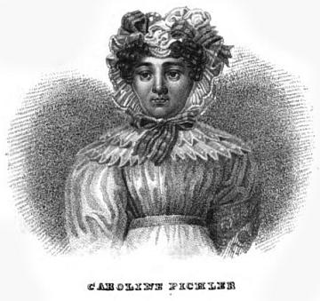 Její portrét z knihy Anthologie aus den sämmtlichen Werken von C. Pichler (1830)