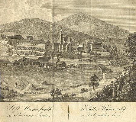 """Takto za jejího života vyhlížel """"klášter Wyšňovský v Budějowickém kraji"""""""