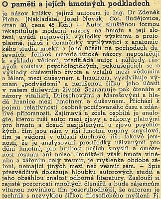 Obálka a anonce jeho knihy, která vyšla v Českých Budějovicích ještě před emigrací (1947, nakl. Josef Novák)
