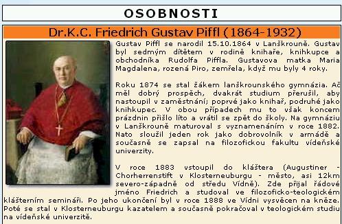 ... a začátek jeho medailonu na serveru Lanškrounsko.cz
