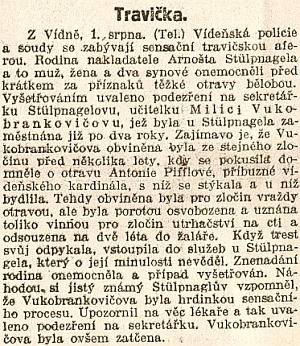 """Tady se ve večerníku Národních listů z 1. srpna 1922 objevuje jméno Antonie Pifflové v nečekané, vskutku """"sensační"""" souvislosti (viz i Emerich Rudolf Boyer Von Berghof)"""