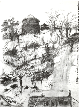 Kresba z Českého Krumlova
