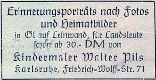 Takto se po válce v Karlsruhe živil malováním portrétů podle fotografií i se slevou pro krajany