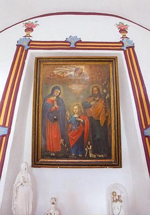 Oltářní obraz v holašovické kapli...