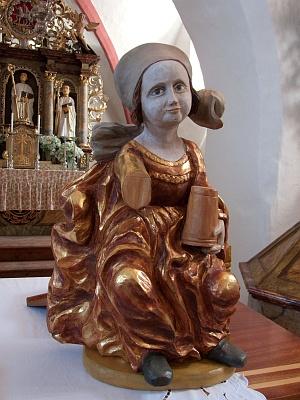 Kopie sochy Máří Magdalény v Čakově, jejíž originál je ve vlastnictví Alšovy jihočeské galerie