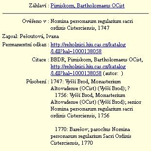 Jeho záznam v databázi Historického ústavu AVČR
