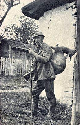 Starý Franz Köck s úlovkem