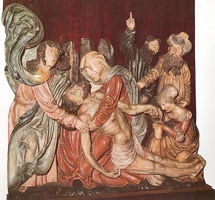 Slavné Oplakávání Krista z Korkusovy Huti, dnes v Alšově jihočeské galerii...