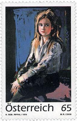 Jiný z jejích otcem realizovaných dívčích portrétů vyšel dokonce na rakouské poštovní známce nákladem půl milionu kusů