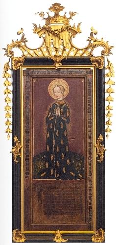 Zdobný rám obrazu Madony s klasy vklášteřeSchlägl