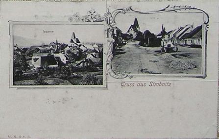 Tři další staré pohlednice obce zachycují ji na té horní i s jejím okolím