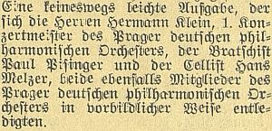 V roce 1941 uvedlo Pražské smyčcové trio i za jeho účasti v protektorátních Českých Budějovicích (ztratily přívlastek České až právě rok na to) mj. itrojvěté trio Isidora Stögbauera