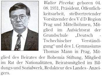 Jeho podobenka a výčet funkcí v brožuře VdV (Versammlung der Deutschen)