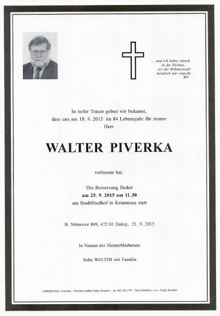 Text na parte, vytištěném, jak symbolické, českokrumlovskou firmou Šumava, si napsal sám