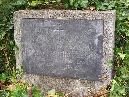... a snímky Pleischlova hrobu na vídeňském Centrálním hřbitově sostatky, přenesenými sem ze St. Marxer Friedhof (skupina 101, řada 19, hrob č. 27)